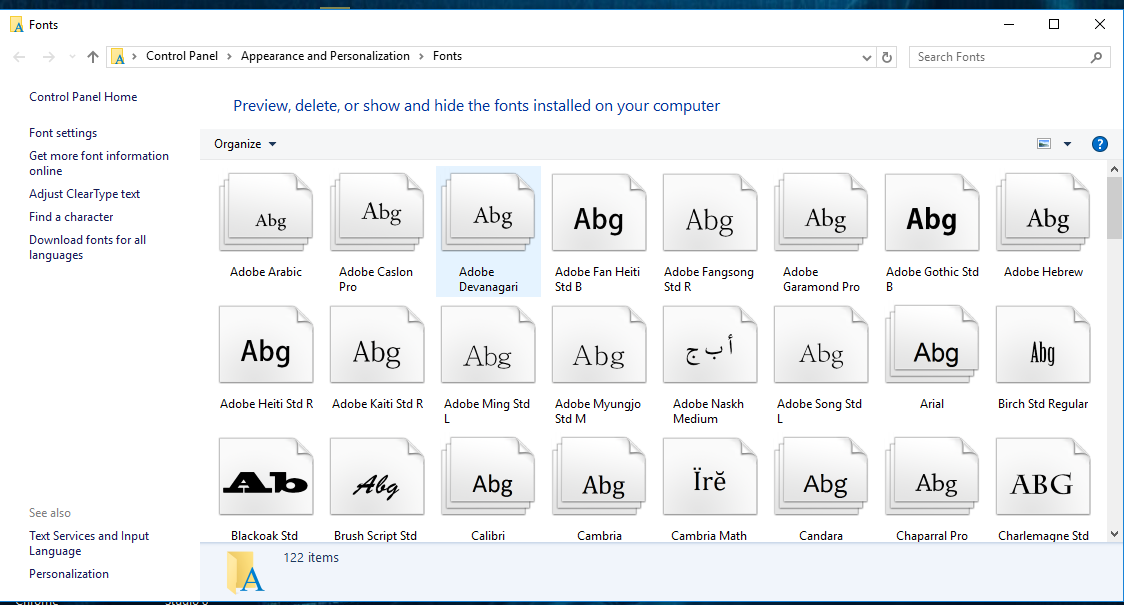 How to Change the Default Font in Windows 10 4