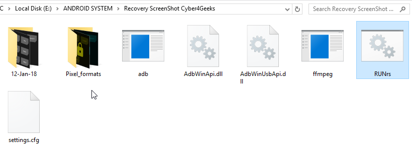 Recover screenshot capture toolkit folder