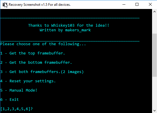 screenshots in recovery mode twrp/cwm/philz