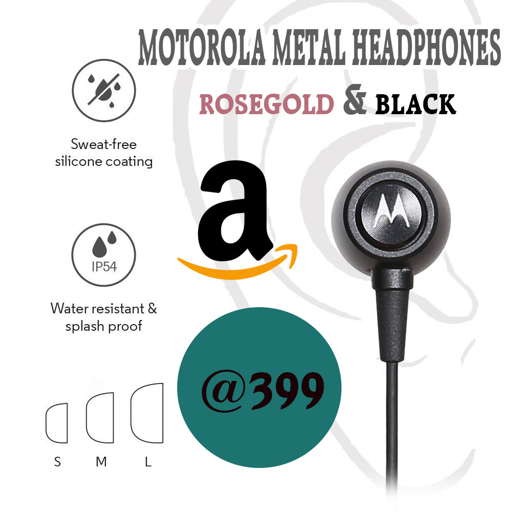 motorola metal headphones loot deal