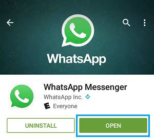 Whatsapp- Create an account