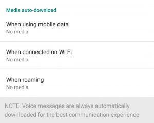 Whatsapp Data usage Tips to save data