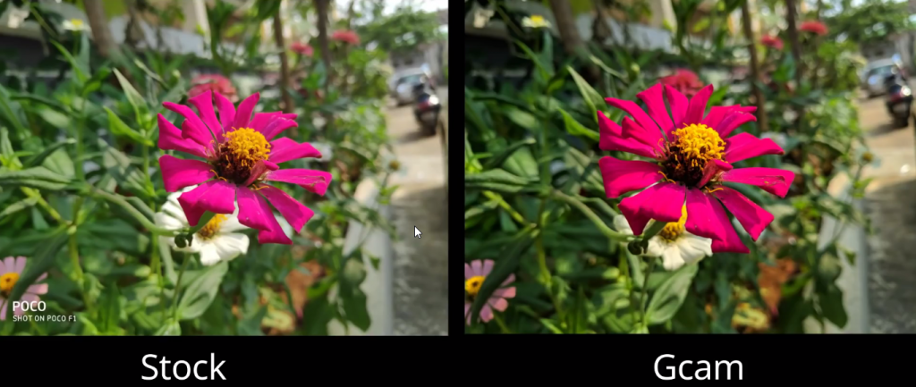 POCO F1 Google Camera Potrait Stock Vs Gcam