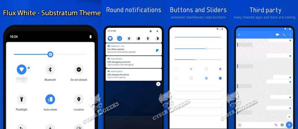 Top Substratum Themes - Flux White