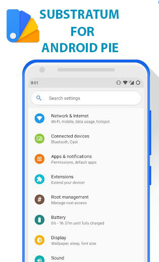 Install Substratum for Android Pie