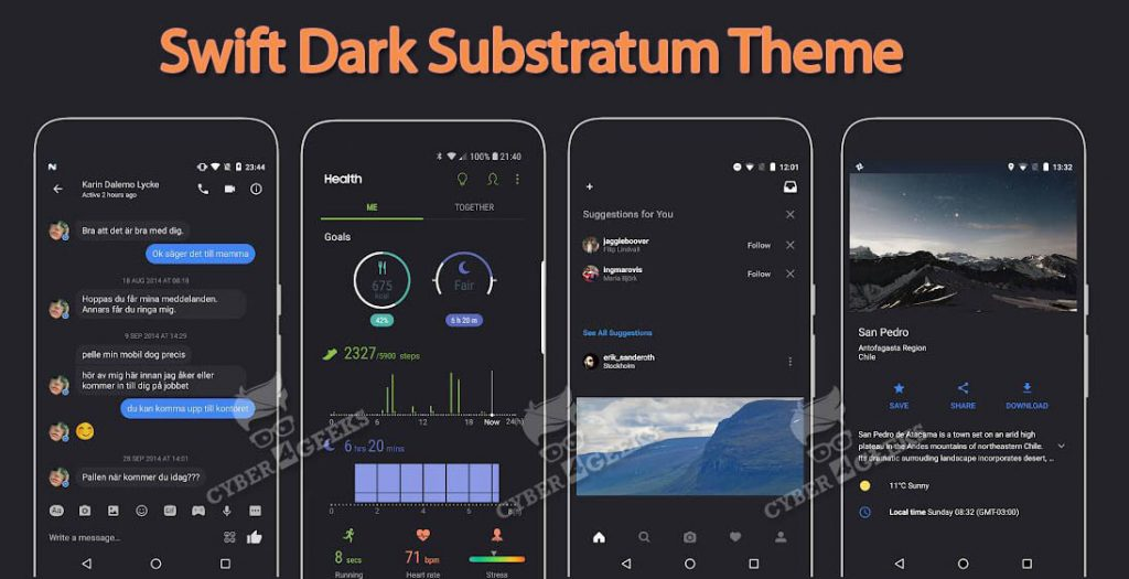 BEST Substratum Themes - Swift Dark
