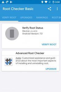 Root Check LG V20