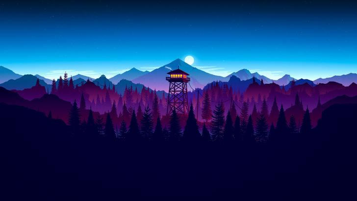 Ultra HD 4K firewatch widescreen wallpaper