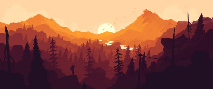 Landscape 2 Vector wallpaper 21:9
