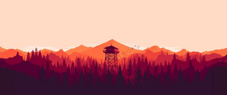 ultra hd 4k firewatch 3440x1440 wallpaper