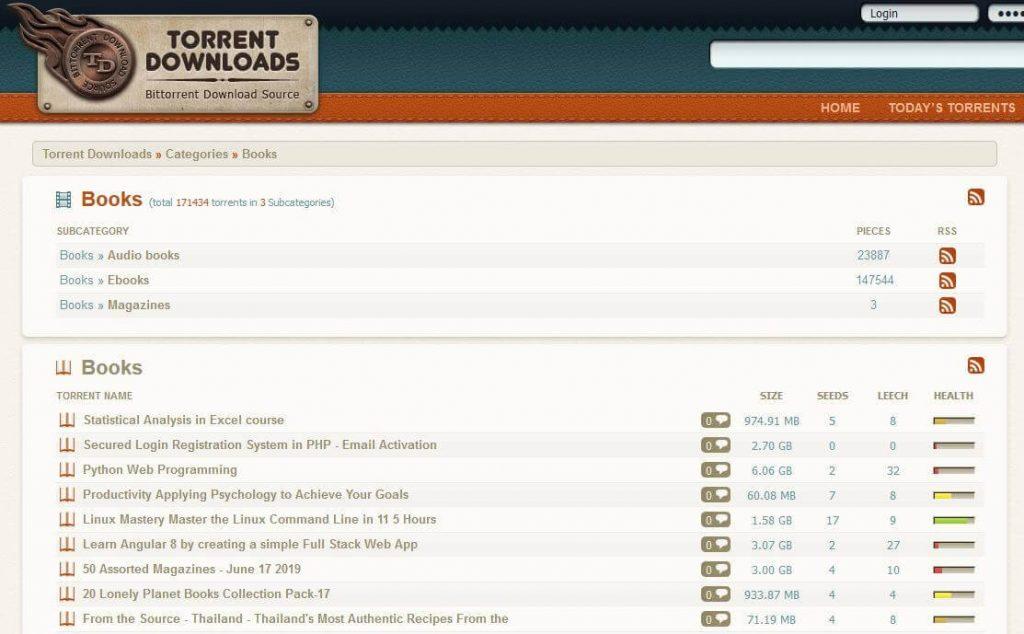 Torrent Downloads - best torrent sites for ebooks