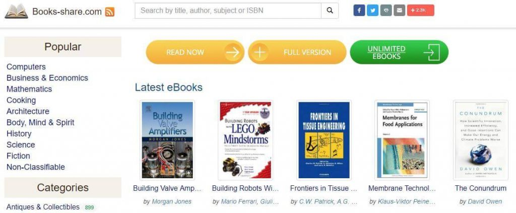 Booksshare.com - download books in PDF, Epub