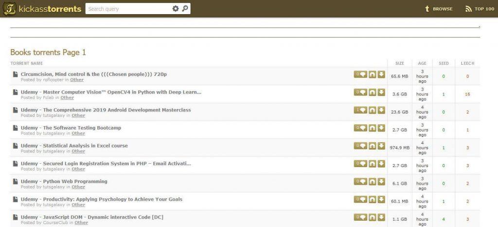 kickass Torrents- Download Ebooks