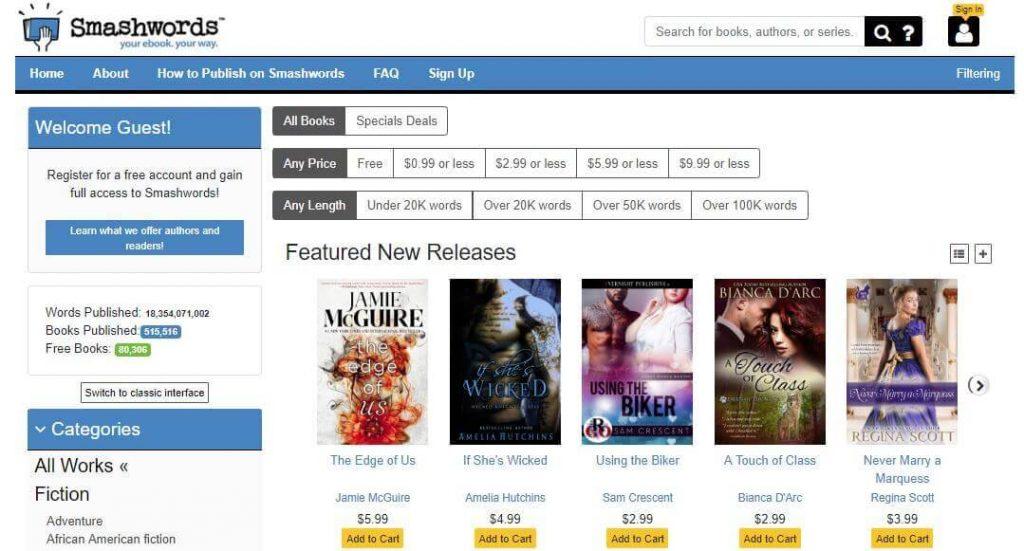 Smashwords - Ebook Download Website