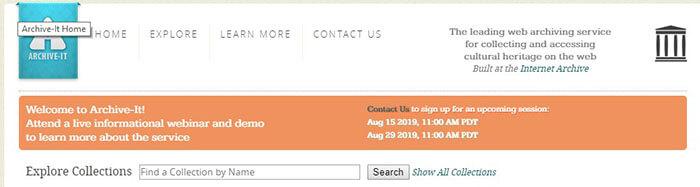 Archive.it - Web Archiving