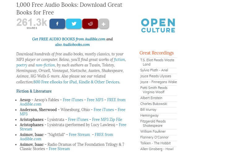 Open Culture Free Audiobooks