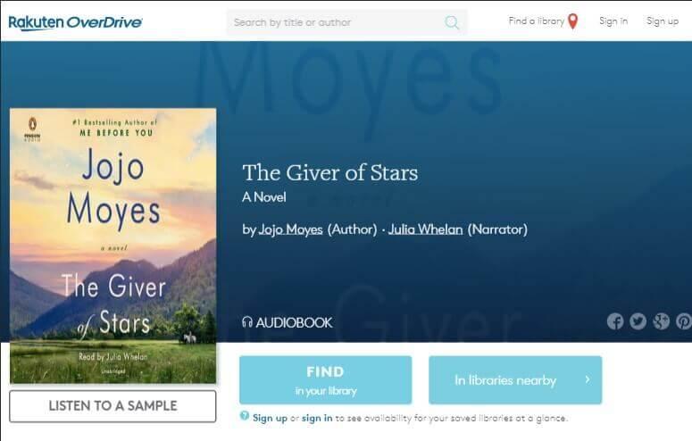 Rakuten Overdrive Audiobooks