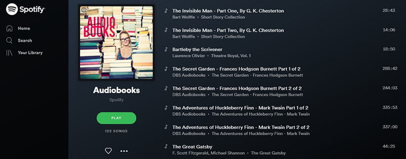 Spotify Audiobooks