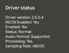 Viper4android Driver status